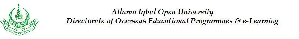 Overseas Educational Programmes  and e-Learning